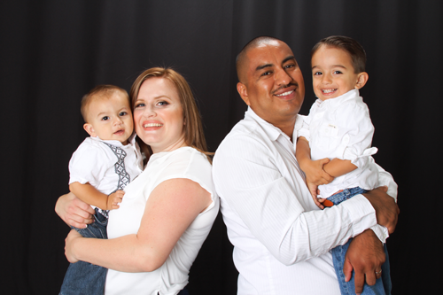 Marco Apanco of Extremely Clean Carpet Cleaning in Orange, CA and family